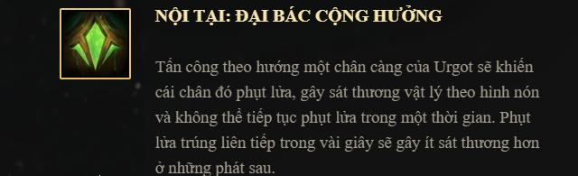 Bo ky nang Urgot - Noi tai
