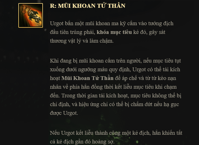 Bo ky nang Urgot - R